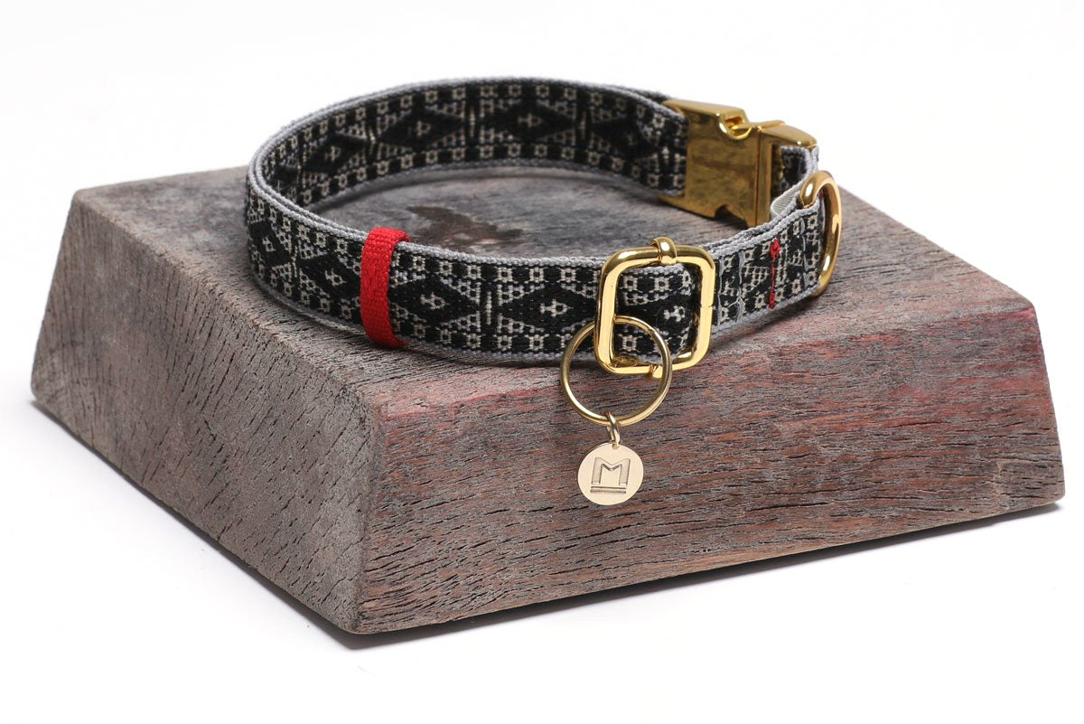 Artisan Woven Dog Collar Medium