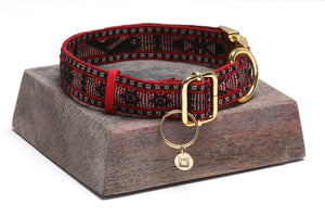Casa de Micho Woven Collar Large Red