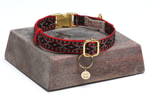Casa de Micho Woven Collar Medium Red
