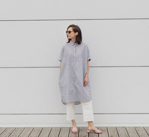 Modest button cotton summer cool dress for women