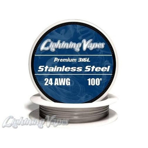 STAINLESS STEEL WIRE 316L 24 GAUGE (100')-Accessories-Cloud 61 Vapor