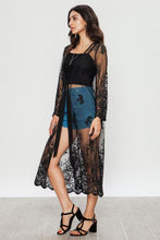 Load image into Gallery viewer, Black Rose Kimono - Kiss My Chic Boutique
