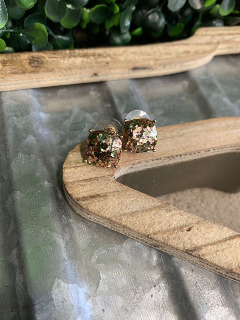 Copper Confetti Studs - Kiss My Chic Boutique
