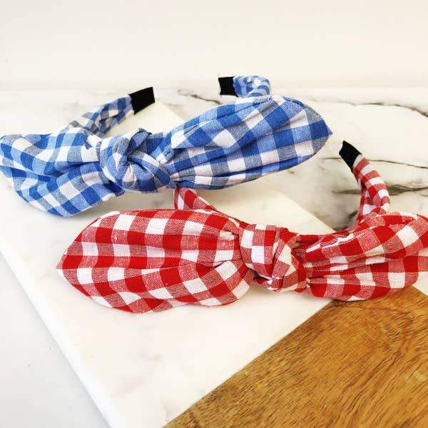 Miss Gingham Headband - Kiss My Chic Boutique