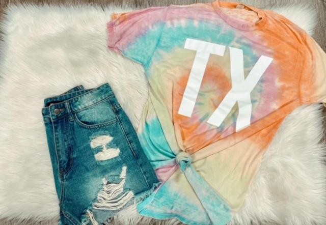 TX - Tie Dye - Kiss My Chic Boutique