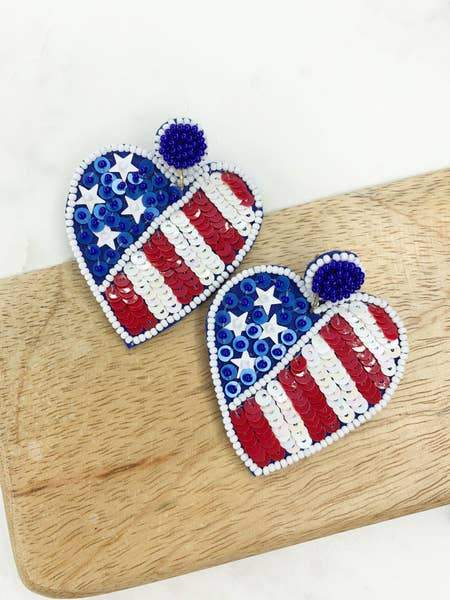 USA Sequin Hearts - Kiss My Chic Boutique