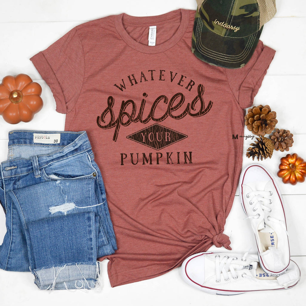 Whatever Spices Your Pumpkin Tee - Kiss My Chic Boutique