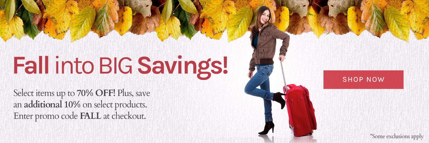 Fall Savings on the best luggage in the US.