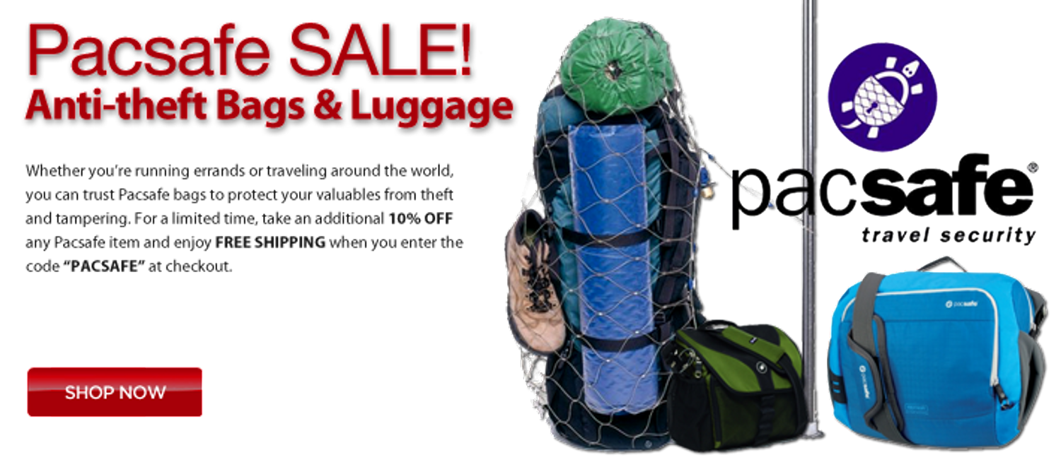 Pacsafe Sale. Save 10% off your Pacsafe Anti Theft travel bags order at checkout