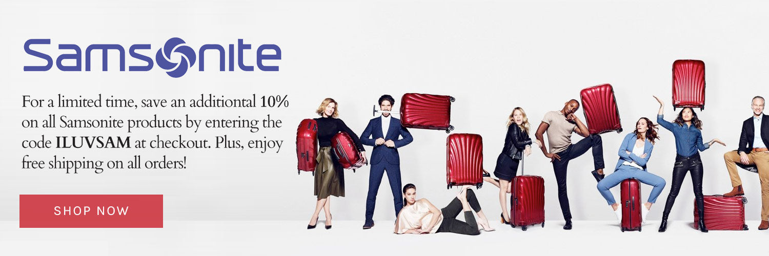 Samsonite Sale save 10% off the lowest prices