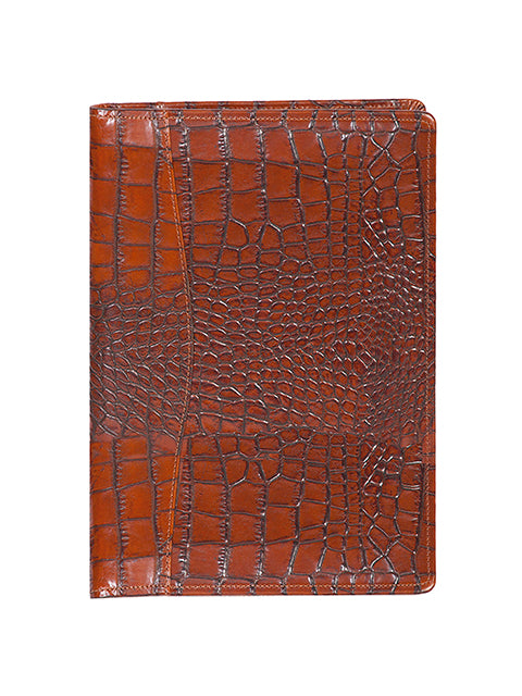 Scully Croco/Ostrich Leather ruled journal