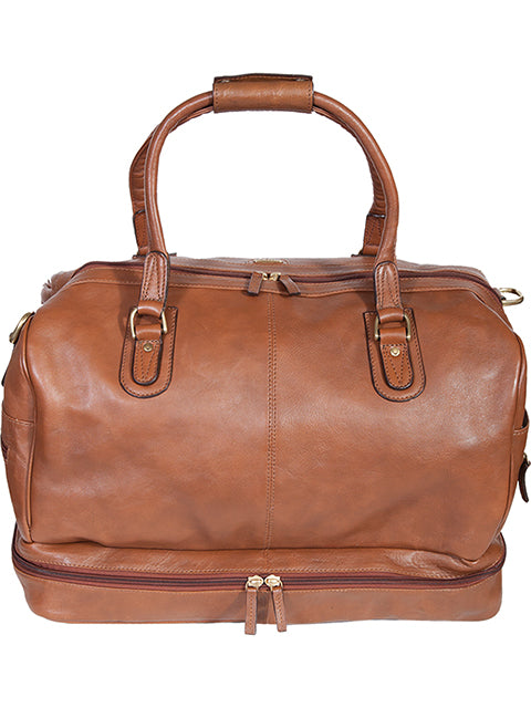 Scully Large Leather Duffel Bag Brown