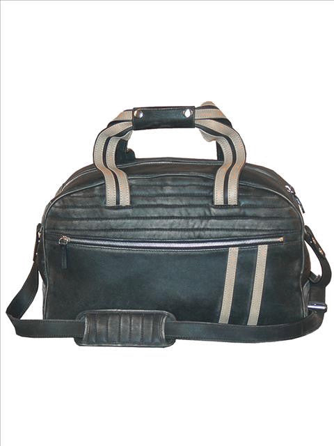 Scully Sanded Calf Duffel Bag Black