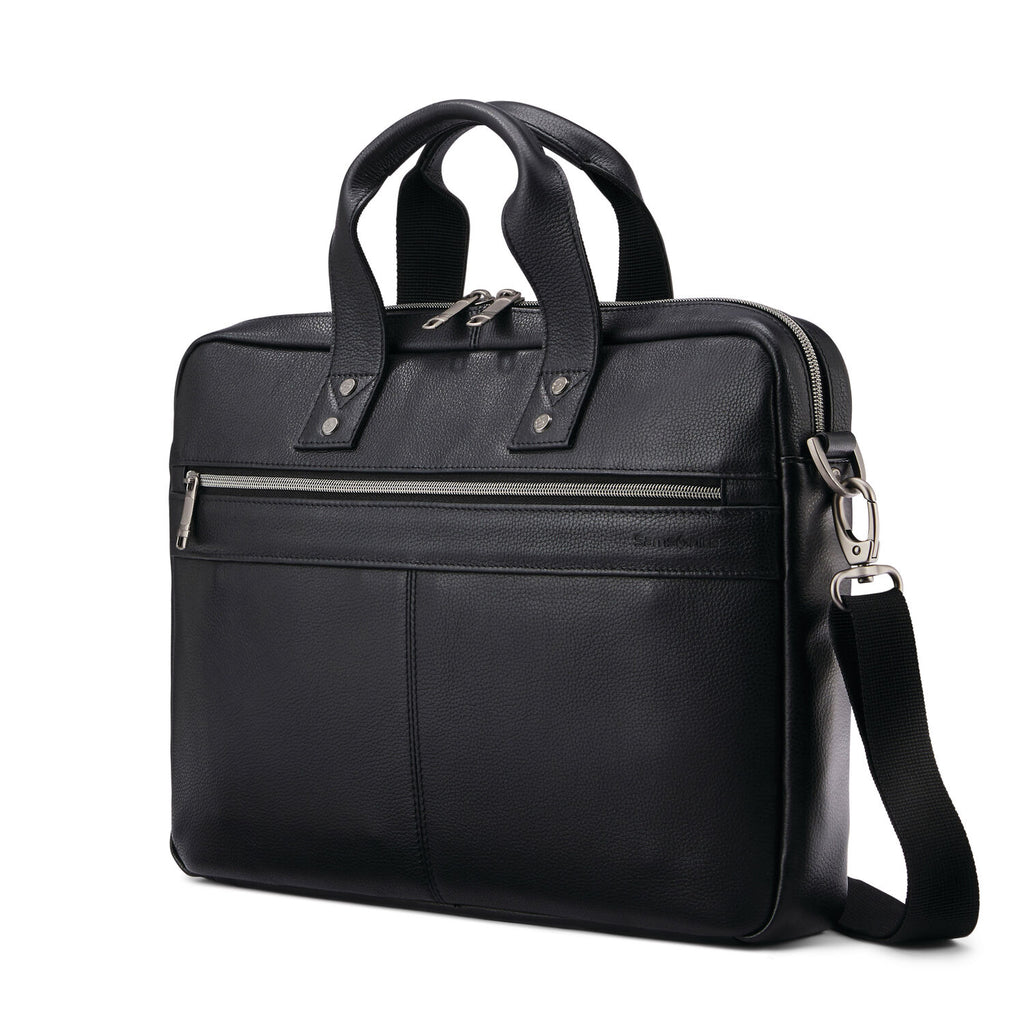 Samsonite Classic Leather Slim Brief Black