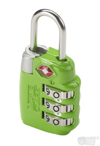Lewis N Clark TSA Large Dial Combination Lock Green