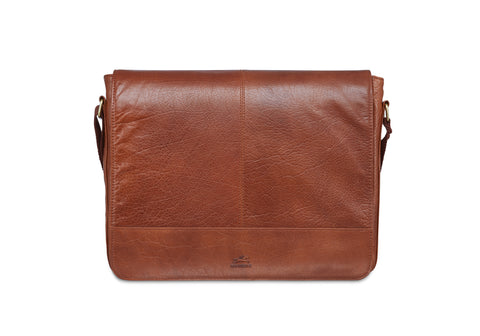 Mancini Arizona Messenger bag for 15 inch laptop / tablet Brown