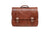 Mancini Arizona Double Compartment Flapover Briefcase for 15.6'' Laptop Brown