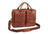 Mancini Arizona Double Compartment Briefcase for 15.6'' Laptops Brown
