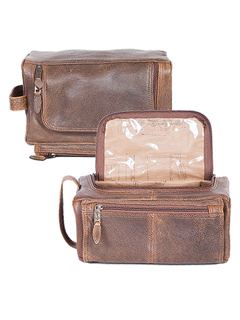 Scully Aerosquadron Collection Leather Shave Kit Walnut
