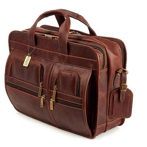 Claire Chase Legendary Executive Computer Briefcase Dark Brown