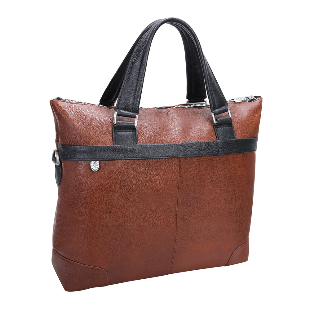 "McKlein 15"" Leather Two-Tone Laptop & Tablet Briefcase"
