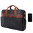 "McKlein 17"" Leather Two-Tone Dual-Compartment Laptop Briefcase"