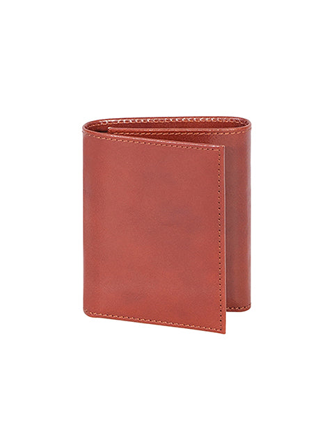 Scully Italian Leather Tri-Fold Wallet Cognac