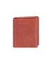 Scully Italian Leather Tri-Fold Wallet Mahogany