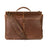 Boconi Bryant Dowel Rod Leather Briefcase Mahogany