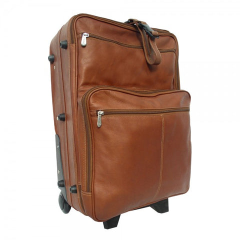 "Piel Leather 22"" Wheeled Traveler Case Assorted Colors"
