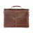 Boconi Bryant Saddle Bag in Antique Mahogany with Houndstooth