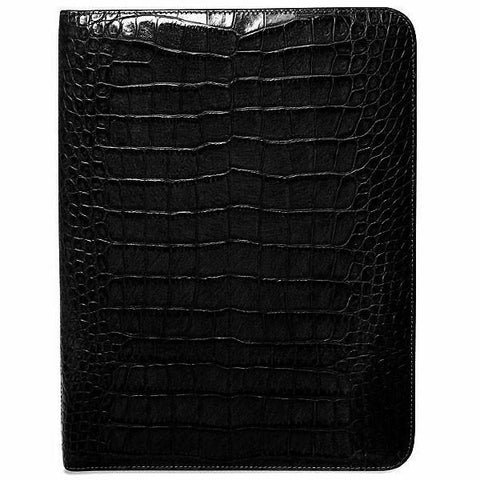 Jack Georges Croco Letter Size Writing Pad Cover Black