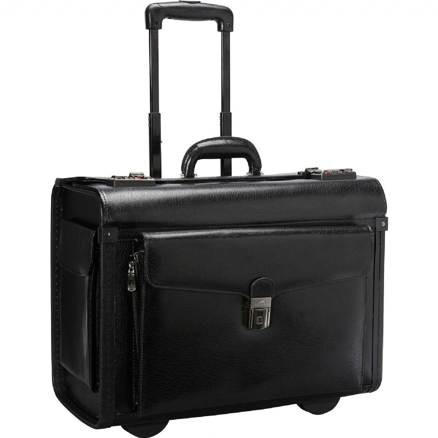Mancini Leather Goods Deluxe Wheeled Catalog Case