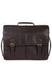 Scully Handstained Leather Satchel Brief Chocolate