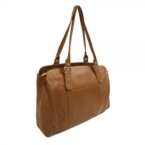 Piel Ladies Buckle Laptop Tote