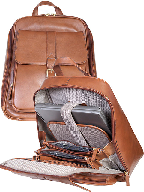 Scully Leather Business Backpack Brown