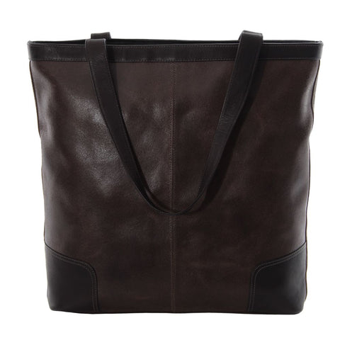 Piel Leather Vintage Vertical Tote Bag