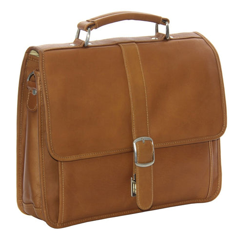 Piel Leather Small Flap Over Laptop/ Tablet Brief Bag