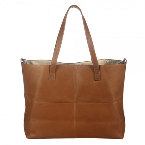 Piel Leather Large Open Multi purpose Tote Bag