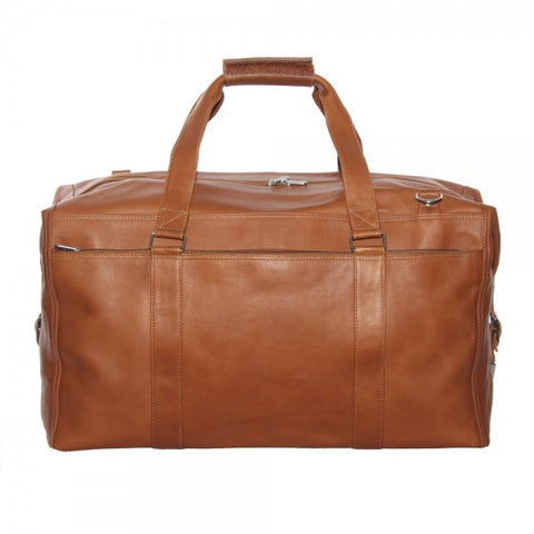 Piel Leather Extra Large Zip Pocket Duffel Bag