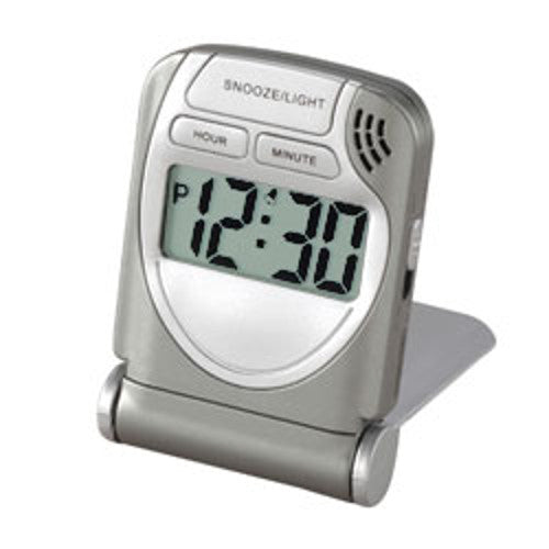 Voltage Valet LCD Travel Alarm Clock