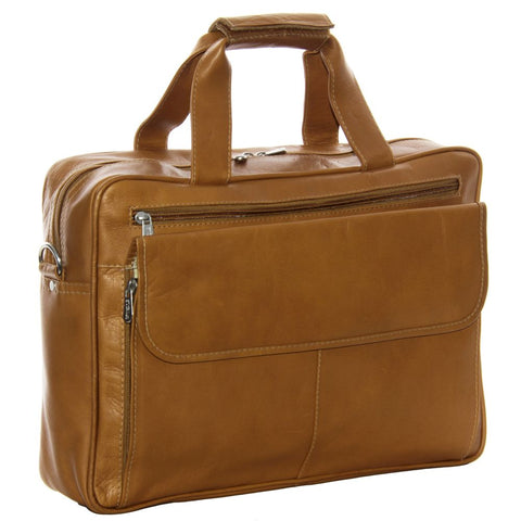 Piel Leather Slim Top Zip Laptop Briefcase