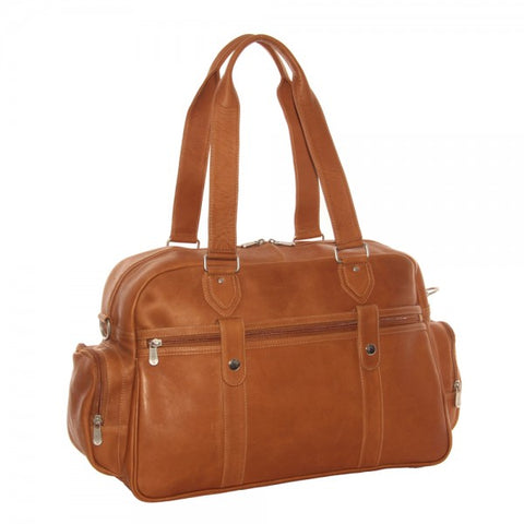 Piel Leather Adventurer Carry On Satchel Bag