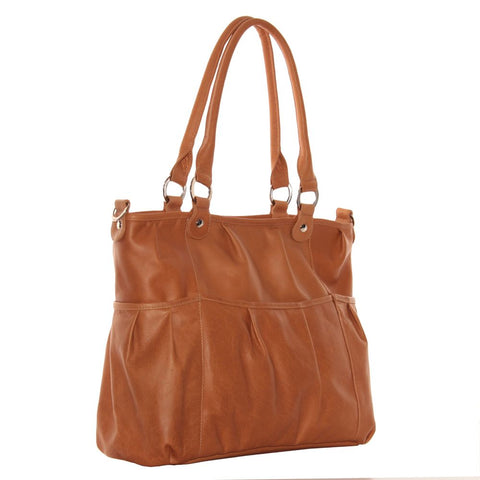 Piel Leather Zippered Cross body Tote