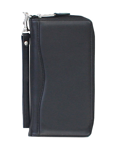 Scully Leather Soft Plonge Travel Wallet Black