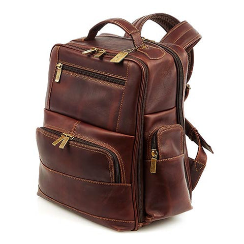 Claire Chase Legendary Executive Backpack Dark Brown