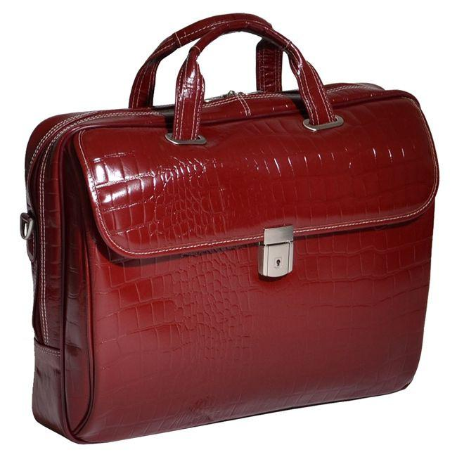 "Siamod Servano 13.3"" Leather Ladies Laptop Briefcase"