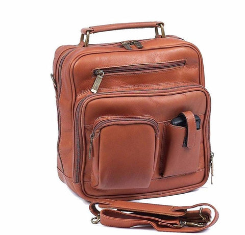 Claire Chase Jumbo Man Bag Saddle