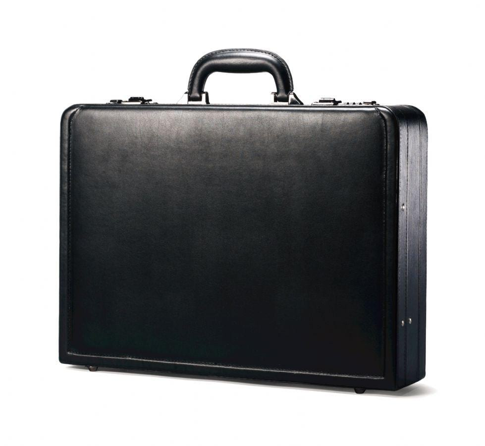Samsonite Leather Attache Black