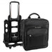 "McKlein USA Gold Coast Leather 17"" Detachable Wheeled Laptop Backpack Briefcase Black"